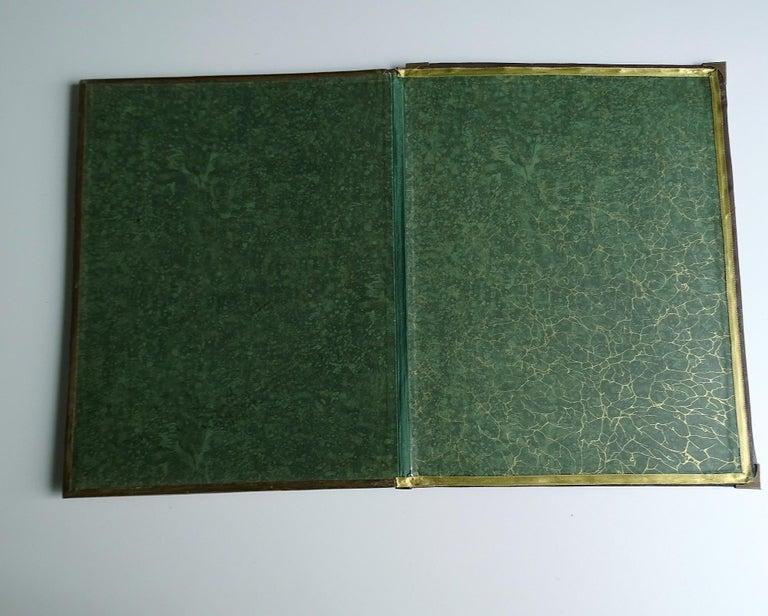 Antique Art Deco Document & Letter Holder, Brass & Rosewood 7