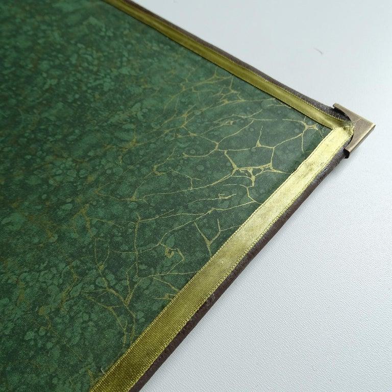 Antique Art Deco Document & Letter Holder, Brass & Rosewood 8