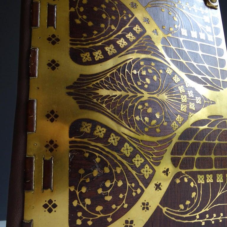 Antique Art Deco Document & Letter Holder, Brass & Rosewood 1