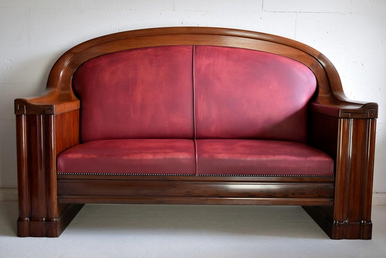 Art Deco Mahogany Sofa by the Royal Danish Furniture Maker C.B. Hansens For Sale 7
