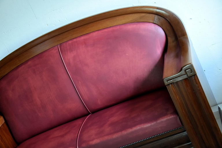 Art Deco Mahogany Sofa by the Royal Danish Furniture Maker C.B. Hansens For Sale 9