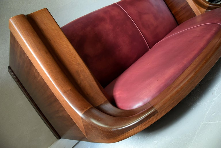 Art Deco Mahogany Sofa by the Royal Danish Furniture Maker C.B. Hansens For Sale 14