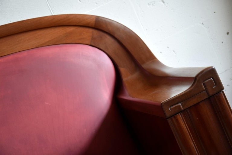 Mid-20th Century Art Deco Mahogany Sofa by the Royal Danish Furniture Maker C.B. Hansens For Sale