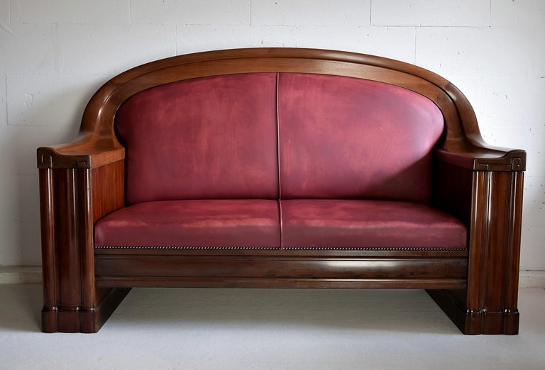 Art Deco Mahogany Sofa by the Royal Danish Furniture Maker C.B. Hansens For Sale 3