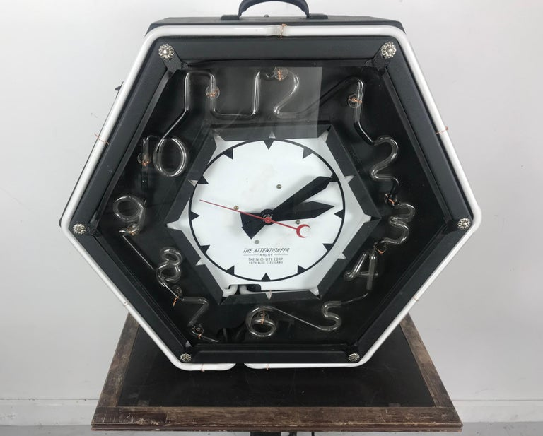 Contemporary Stunning Art Deco Style Neon Number, Neon Clock,