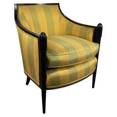 Stunning Art Deco Style Salon Chair by Baker Furniture after Paul Follot