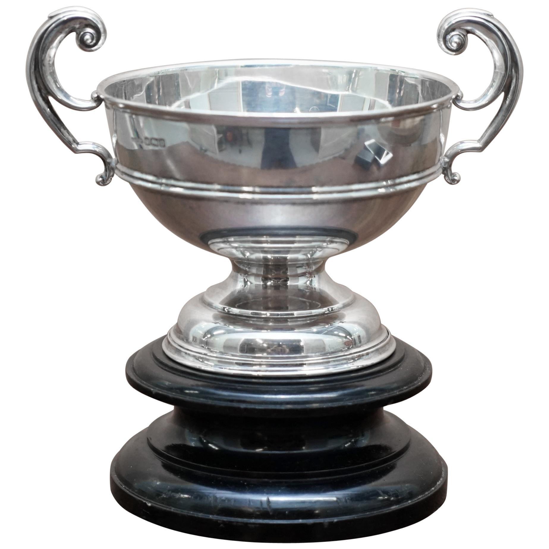 Stunning Asprey & Co Ltd Trophy Cup & Base Sterling Silver Fully Hallmarked 1907