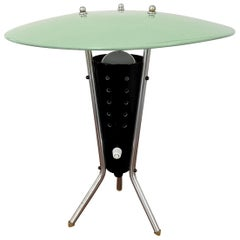 Atomic Tripod Table Lamp with Perforated Shade, 1950