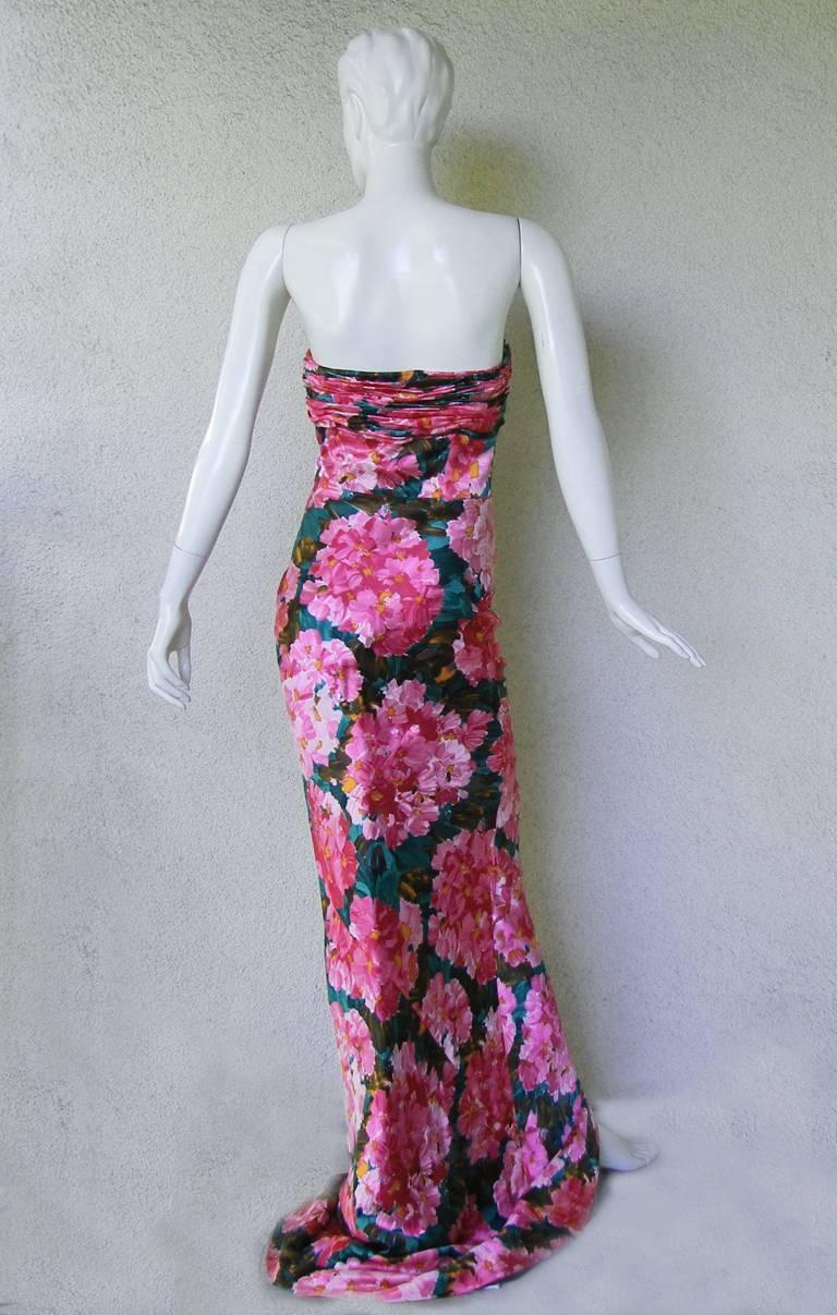 Balenciaga by Ghesquiere Floral Pattern Gown, S / S 2008  In New Condition For Sale In Los Angeles, CA