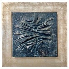 Stunning Bas Relief by Alicia Penalba in Metal Alloy