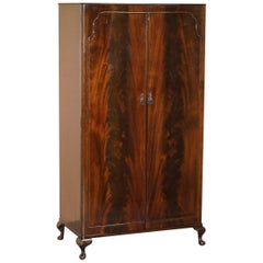 Stunning Beithcraft Scotland Flamed Mahogany Small Wardrobe Part of Large Suite