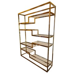 Stunning Belgo Chrome Shelving Piece / Room Divider