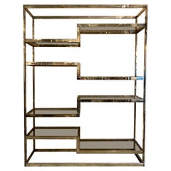 Stunning Belgo Chrome Shelving Unit / Room Divider