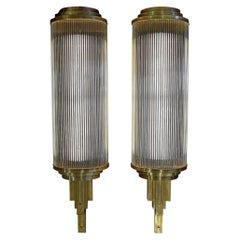Stunning Big Art Deco Set of Cinema Wall Lights