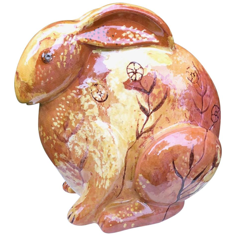 Big Rabbit Hand Painted Master Artisan Eva Fritz-Lindner