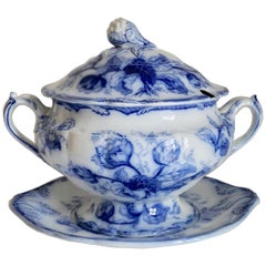 Stunning Big Wedgwood Water Nymph Hand Painted Porcelain Soup Tureen, England