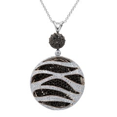 Stunning Black and White Diamond Pendant