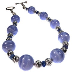 Stunning Blue Lace Agate Necklace