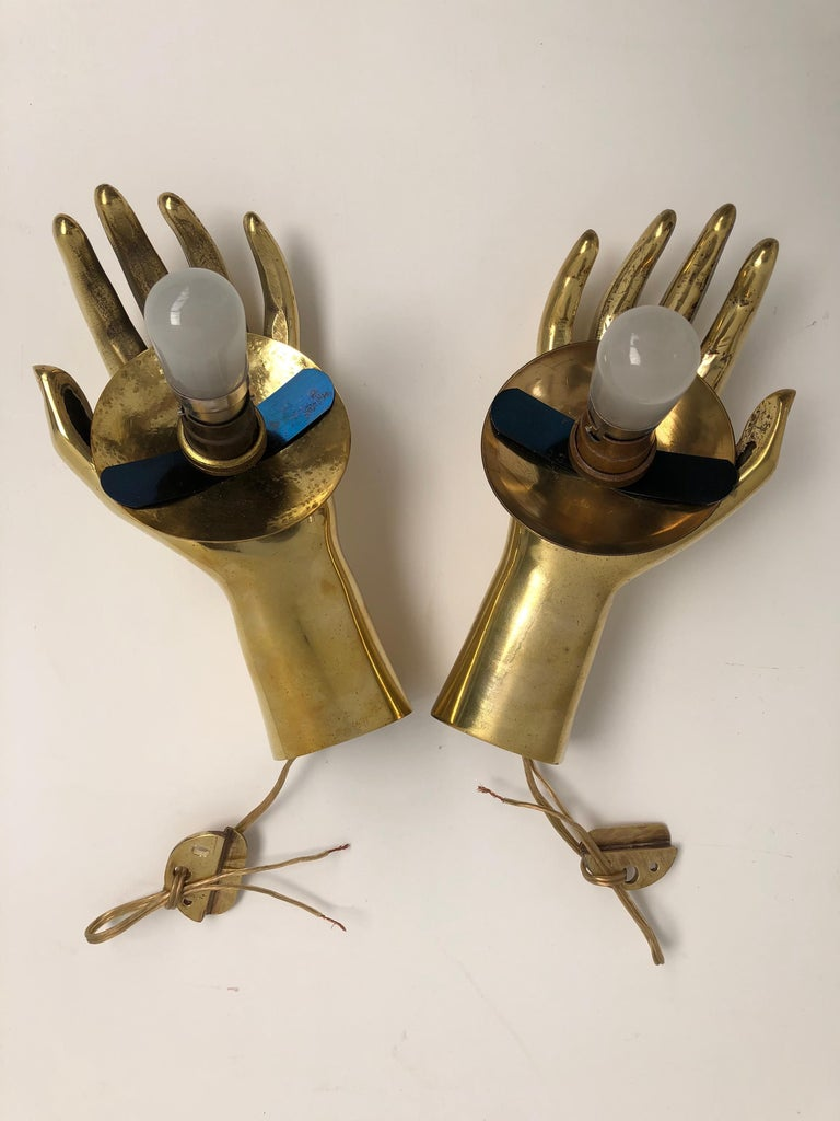 Brass & Opaline glass appliques  ARLUS, 1960  handed pair, Guaranteed original For Sale 9