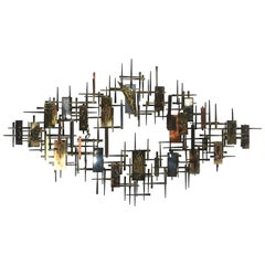 Stunning Brutalist Multi-Metal Wall Sculpture by R. H. Berger