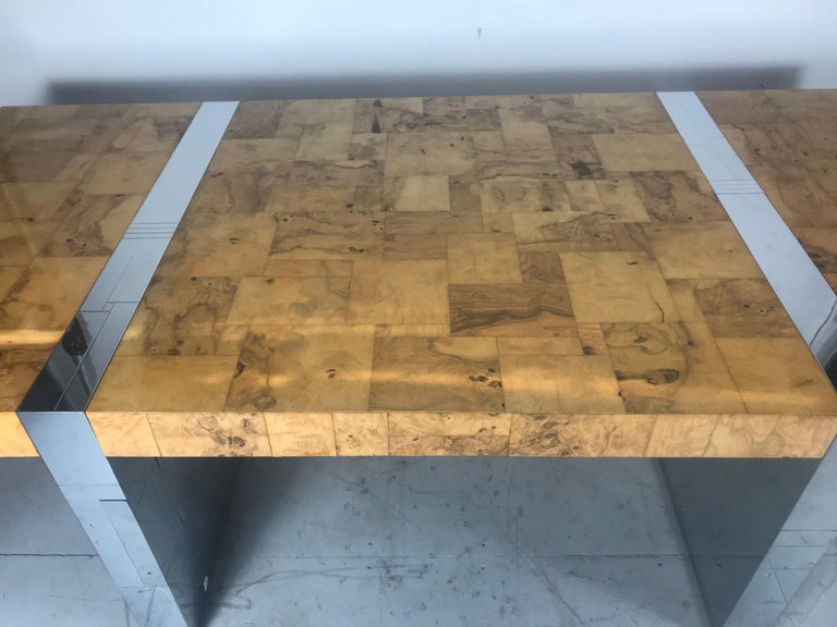 Stunning Burl Olive Wood 1960s Paul Evans Cityscape Dining Table / Desk For Sale 8