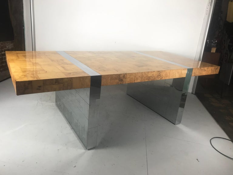 Stunning Burl Olive Wood 1960s Paul Evans Cityscape Dining Table / Desk For Sale 10