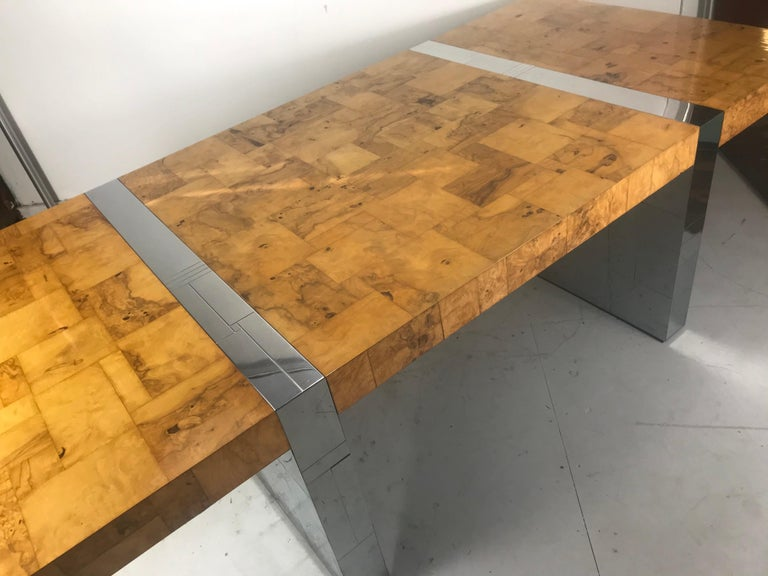 Stunning Burl Olive Wood 1960s Paul Evans Cityscape Dining Table / Desk For Sale 11