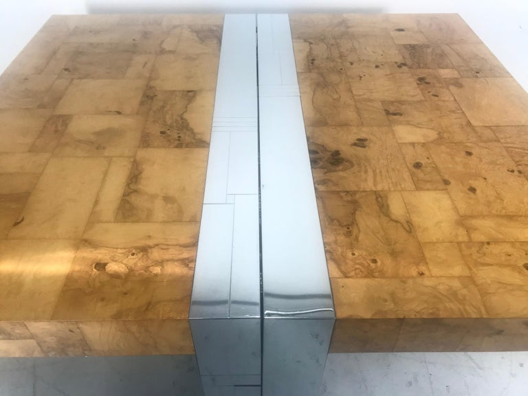 Stunning Burl Olive Wood 1960s Paul Evans Cityscape Dining Table / Desk For Sale 3