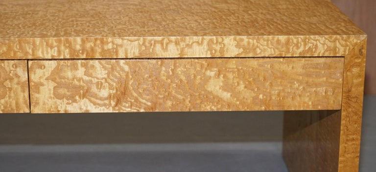 Stunning Burr Satinwood Two-Drawer Coffee Table Stunning Patina Part of a Suite For Sale 1