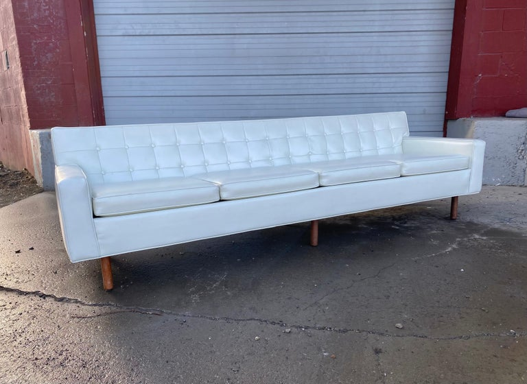 American Stunning Button Tufted 4-Seat Sofa by Milo Baughman for Thayer Coggen