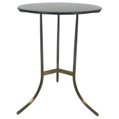 Stunning Cedric Hartman Egyptian Marble and Brushed Bronze Side Table