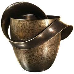 Stunning Champagne Wine Bucket Cooler, Polished Brass, France