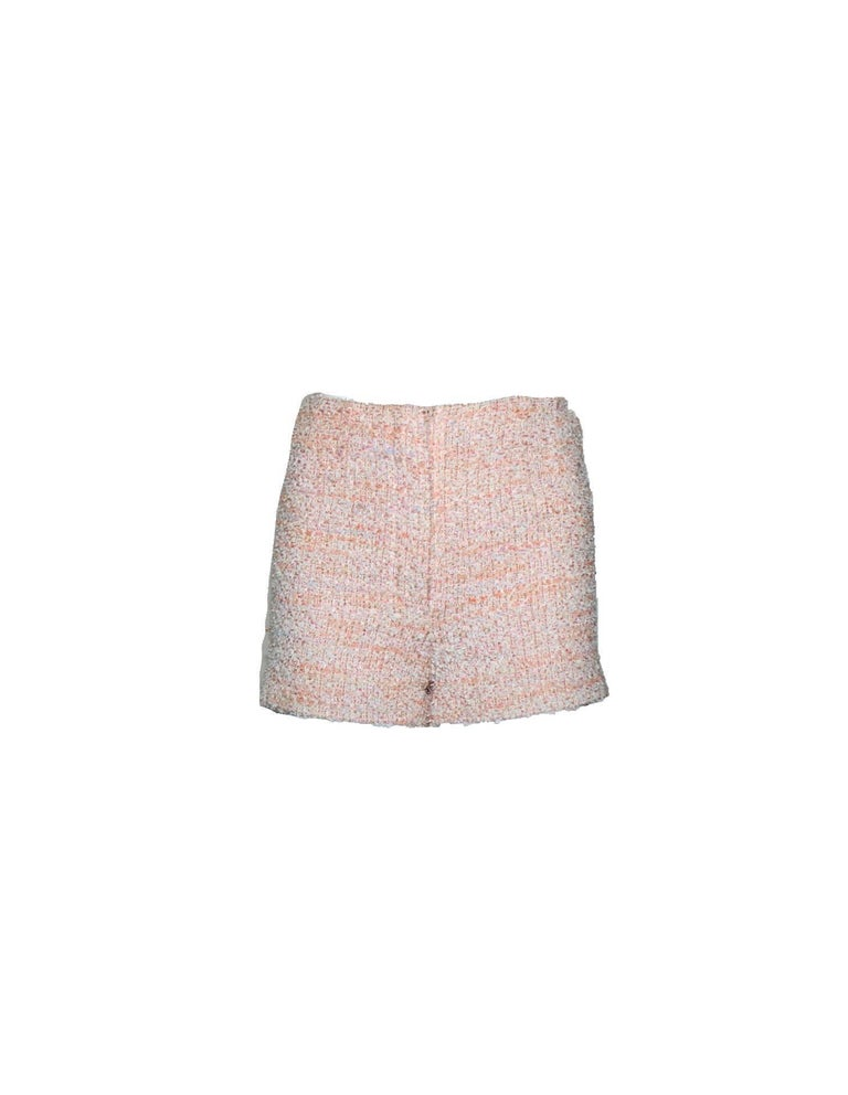 Stunning Chanel Fantasy Tweed Sequins Hot Pants Shorts Suit with CC Logo Buttons In Excellent Condition For Sale In Switzerland, CH