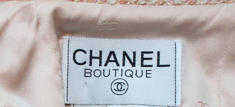 Stunning Chanel Fantasy Tweed Sequins Hot Pants Shorts Suit with CC Logo Buttons For Sale 4