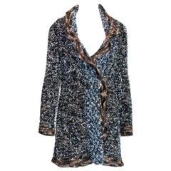 Stunning Chanel Lesage Fringed Fantasy Tweed Jacket Blazer Coat Cardigan