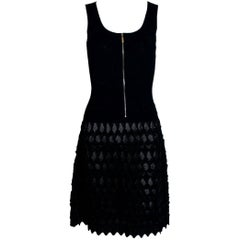 "Stunning Chanel ""Little Black Dress"" Knit Dress with Zipper Detail"