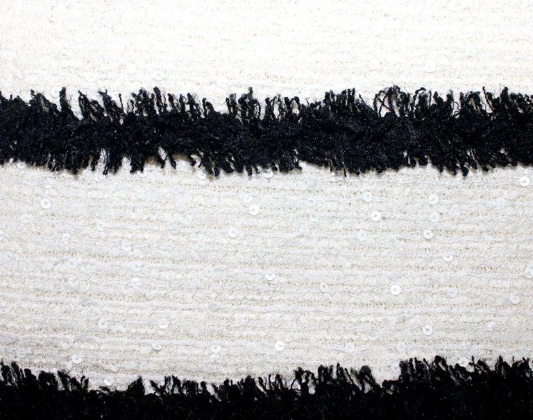 Women's Extraordinary Chanel Signature Monochrome Sequin Fantasy Tweed Jacket For Sale