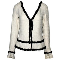 Stunning Chanel Signature Monochrome Sequin Fantasy Tweed Jacket