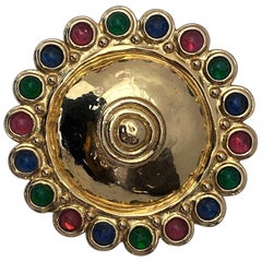 Stunning Christian Dior 1980s Large Etruscan Style Medallion PIn