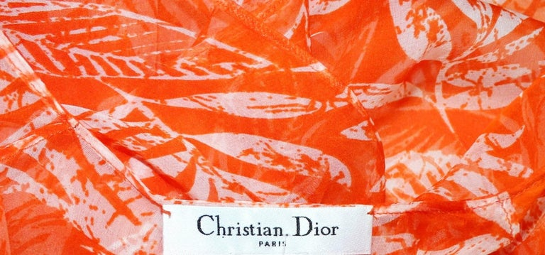 Stunning Christian Dior Belted Silk Tunic Kaftan Dress For Sale 1