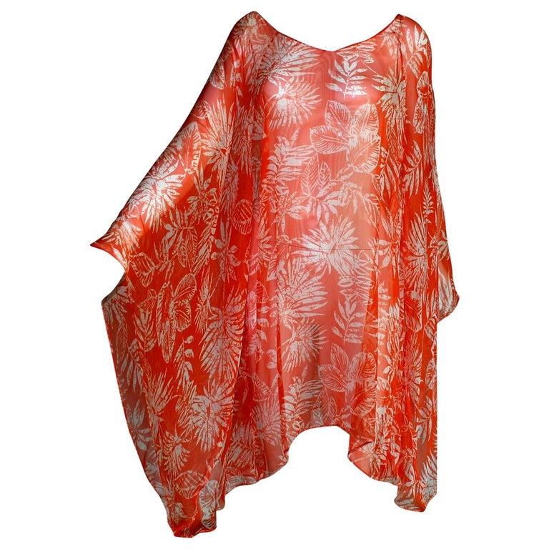 Stunning Christian Dior Belted Silk Tunic Kaftan Dress For Sale