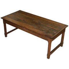 Stunning circa 1820 French Fruitwood Refectory Dining Table Large Single Drawer