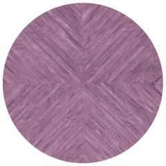 Stunning Classic Customizable La Quinta Amethyst Cowhide Area Floor Rug Small