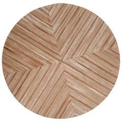 Brow, caramel round Customizable La Quinta Caramel Cowhide Area Floor Rug Medium