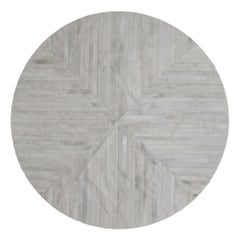 Stunning, Classic customizable La Quinta Grey Area Cowhide Floor Rug Small