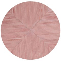Stunning Classic Customizable La Quinta Pink Area Cowhide Floor Rug Small