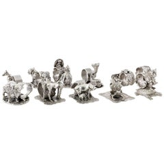 Stunning Collection of 11 Silver Plate Napkin Rings