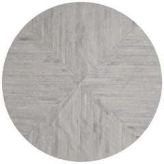 Stunning Colored Round La Quinta Grey Cowhide Rug by Art Hide