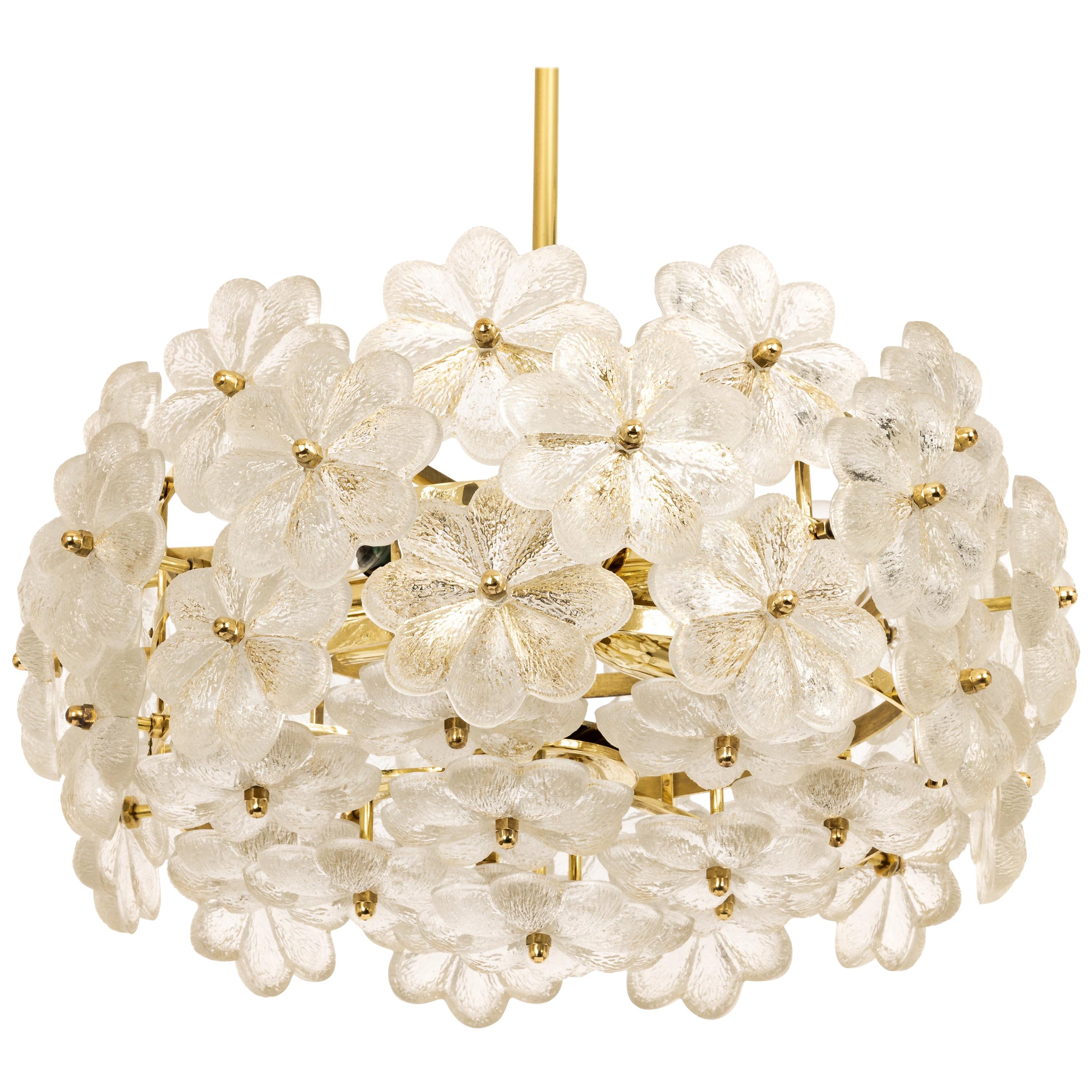 Stunning Crystal Glass Chandelier by Ernst Palme, Germany, 1970s