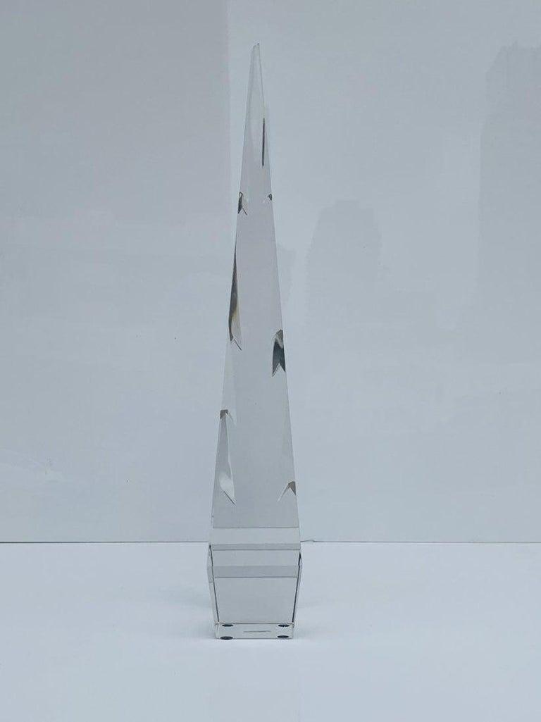 Stunning Crystal Obelisk For Sale 4